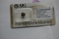 1.55 ct diamond modified brilliant clarity not applicable on the certificate colour dark greenish brown