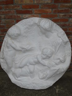 Plaster copy of Michelangelo's Tondo Taddei