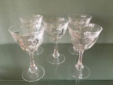 Moser crystal 5 glasses