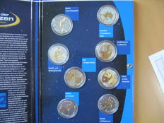 World - Lot with different coins  (8 different ones) partly gold-plated - 8x 1 oz silver