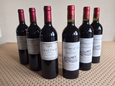 3x 2003 Chateau La Tour de By & 3x 2003 Chateau d'Escurac - 6 bottles in total