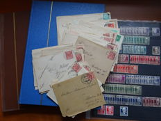 A smaal collection of Germany stamps incl. letters 1880/1960