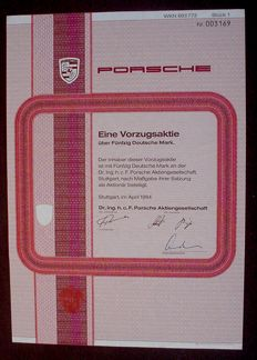 Porsche 50 Deutsche Mark Stuttgart 1984 uncancelled