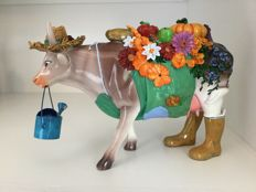 Art in the City Cow - The Gardener Cow - Large - Resin