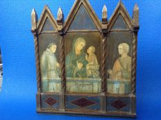 Triptych - France - circa 1900 - painting on wood