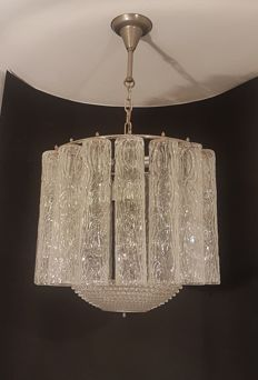 Pendant light with glass tubes