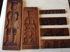 A collection of antique speculaas moulds - first half of the 20th century