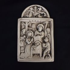 Nativity Figure HandCrafted on White Clay - Portugal - 1960
