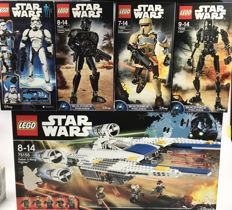 Star Wars - 75155 + 4 U-wing and 4 action figures - new in sealed boxes