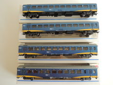 Märklin H0 - 42641/42642 - 4 passenger carriages IC+ of the NS