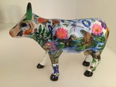CowParade - Maddys Garden Cow - medium -ceramic and retired