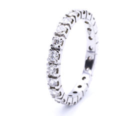 White gold eternity ring with 0.099 ct diamond in total.