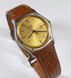 Ebel 7207 - Ultra Slim - 18K Gold Bezel - Elegant - 1990 - Men's Wristwatch