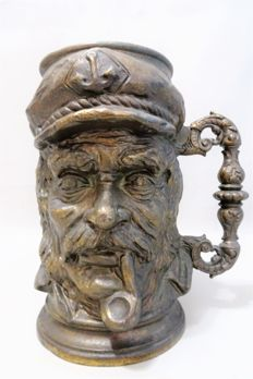 A large and heavy bronze sailor's goblet.
