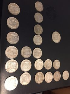 France - Lot of 22 coins (10 and 20 Francs) 1929/1934 - Silver