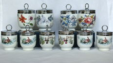 Royal Worcester Egg Coddlers - 4 large and 6 small