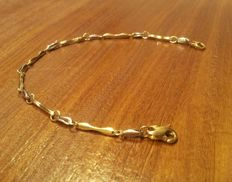 Two-tone 18 kt gold bracelet 7 grams