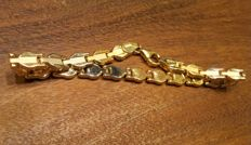 18 kt tricoloured gold bracelet 8.5 grams