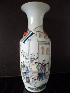 Vase with the flag of the Republic of China - China - c. 1940