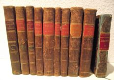 Carl Franz van der Velde - Lot with 10 volumes  - 1824 / 1828