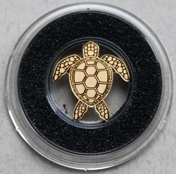 "Palau - 1 dollar ""Sea Turtle"" - Gold"