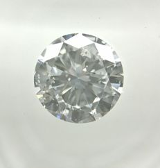 0.85 ct Round cut diamond D SI1