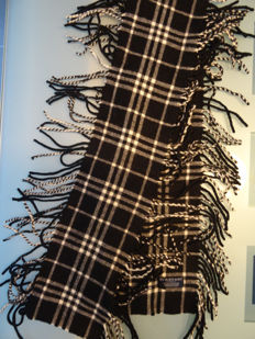 Burberry - Happy fringed scarf