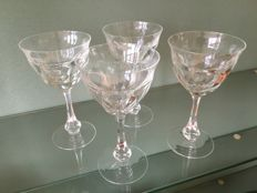 Moser crystal 4 glasses