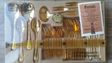 Christmas cutlery set Imperial (Olympia), 37-piece, 23/24 carat gold-plated