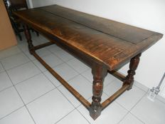 English oak table - 19th century