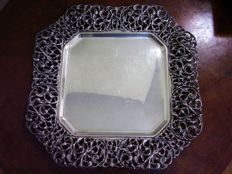 Tray in silver 800, Italy, Florence, 1950s/60s