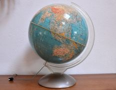 Very large vintage Italian illuminated globe