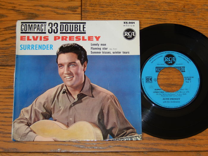 "Elvis Presley rare French EP - Compact 33 Double ""Surrender"" RCA 33.001 (1961) - Error"