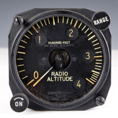 WWII Era - US Navy - Radio Altitude Indicator for Radio Set (ID-14A/APN-1)