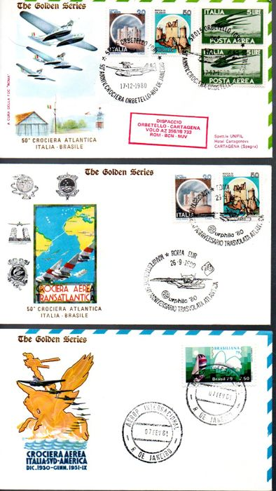 Italy, Republic 1959-1992 - Collection of 250 FDC envelopes including the series: 'Venetia', 'Roma', 'Rodia', 'Filagrano gold' and 'Bucintoro', going from 1959 to 1992