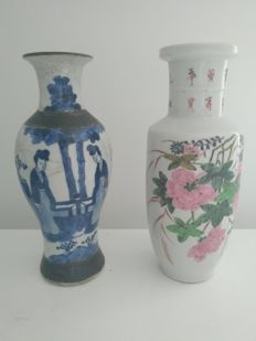 Two porcelain vases – China – Circa 1920