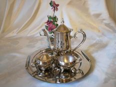 Silver breakfast set with Inoxbeck tray