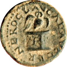 Roman Empire - Nero. AD 54-68. Æ Quadrans (16.96mm, 2.89 g, 6h). Rome mint. Struck circa AD 65. Owl