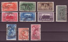 Kingdom of Italy 1929/1937 - selection of stamps with postmarks - Sass. Nos.  262/268-A, 103/105