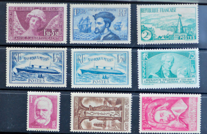 France 1934/1938 - Lot of stamps - between Yvert 256 and 305