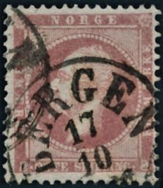 Norway 1855/1857 - The first Norwegian skilling stamps AFA NO 1/5