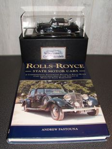 Combination lot of a Rolls Royce book and a model car