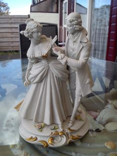 Raffaello Bedin - Florence Italian porcelain 'Couple ' decorative figurine