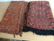 Two early 20th century root cloths