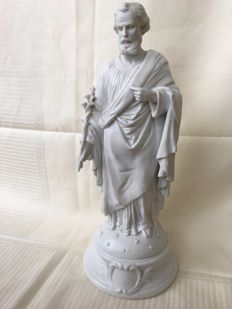 white biscuit porcelain of Saint Joseph, mint condition