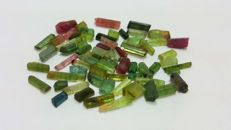 Lot of multicolor tourmaline mix from Tanzania. - L 0,3-1,6cm  W 0,2-0,8cm. - 85 ct
