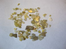 Rough yellow diamond slices, chips - 4.44 crt (110)