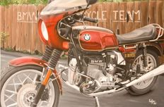 BMW R100CS - canvas 120x80cm