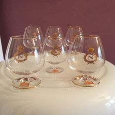 Lot of 6 glasses for cognac of very fine crystal