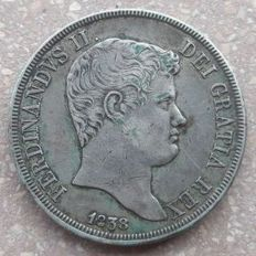 Kingdom of the Two Sicilies – Piastre, 120 Grana, 1838 – Ferdinand II – Silver